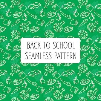Terug naar school naadloze patroon