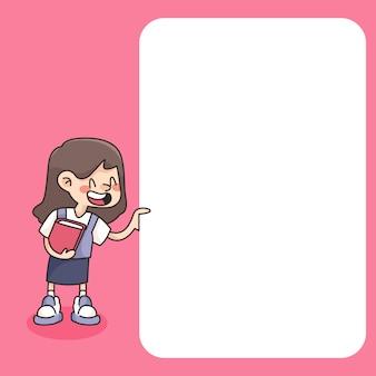 Terug naar school notitieblok cute cartoon illustratie