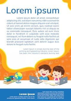 Terug naar school onderwijs en leren onderwijs concept