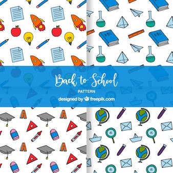 Terug naar school patronenverzameling