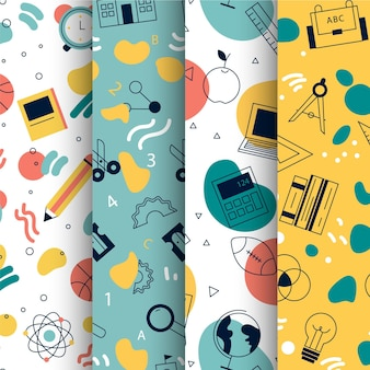Terug naar school patroon collectie thema