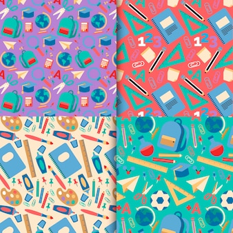 Terug naar school patrooncollectie