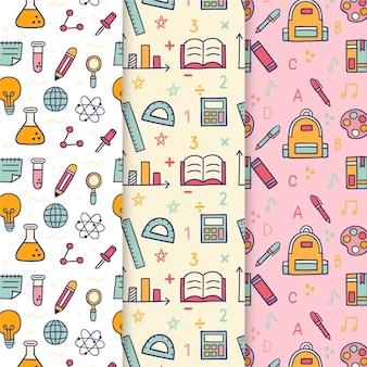 Terug naar school patroonpatroon