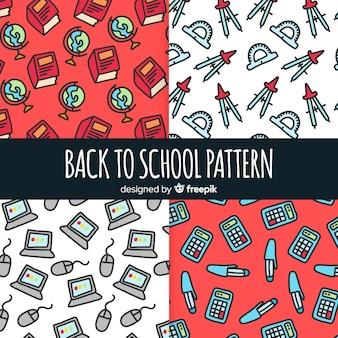 Terug naar school patroonverzameling