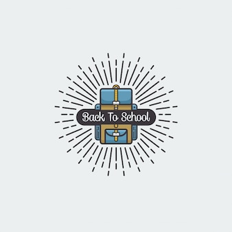 Terug naar school pictogram vectorillustratie