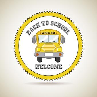 Terug naar school pictogram
