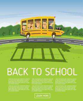 Terug naar school. poster sjabloon