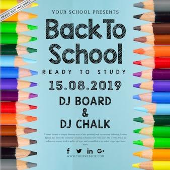 Terug naar school poster