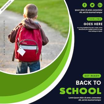 Terug naar school-poster