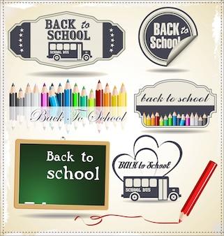 Terug naar school retro ontwerp