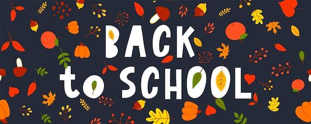 Terug naar school schetsmatig doodles met hand drawn.vector illustratie herfstbladeren, belettering. ontwerpelementen achtergrond, achtergrond. leraren dag.