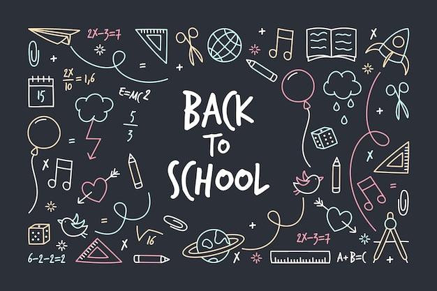 Terug naar school schoolbord achtergrond
