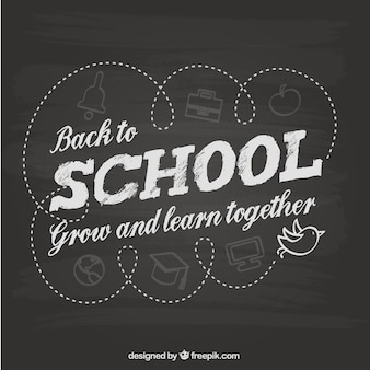 Terug naar school schoolbord