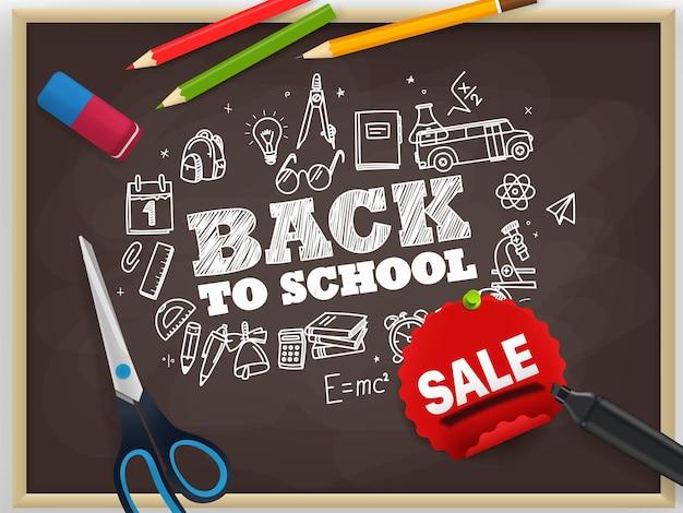 Terug naar school. seizoen verkoop concept