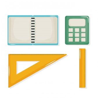 Terug naar school set pictogrammen