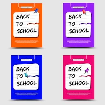 Terug naar school set poster