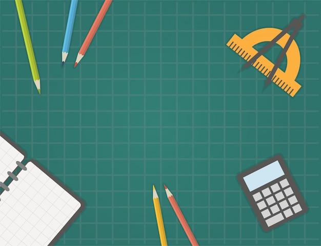Terug naar school sjabloon vectorillustratie Premium Vector