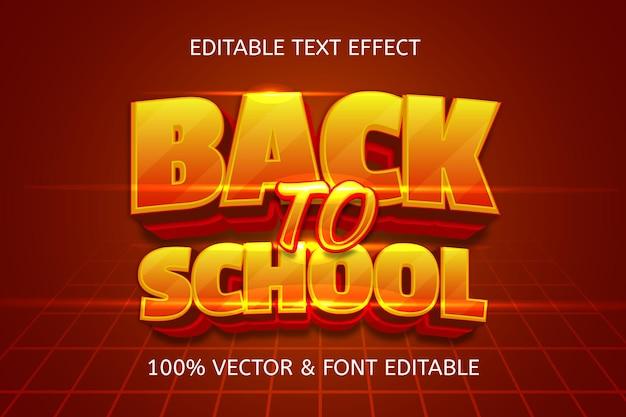 Terug naar school-stijl cartoon bewerkbaar teksteffect
