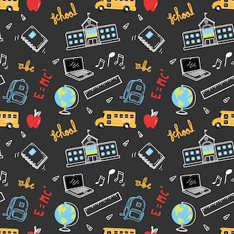 Terug naar school thema doodle achtergrond
