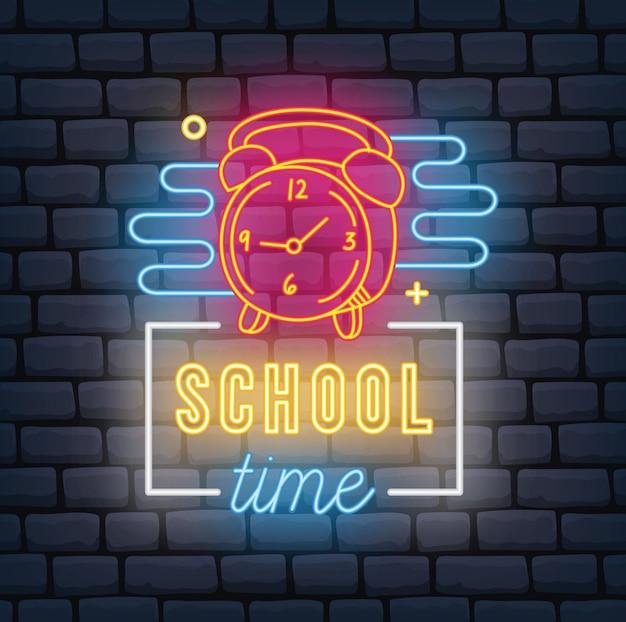 Terug naar school thema neonreclame