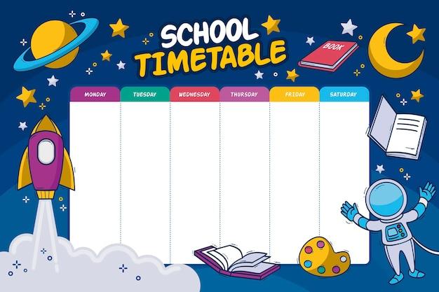 Terug naar school tijdschema concept