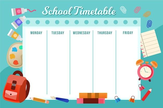 Terug naar school tijdschema tekenen