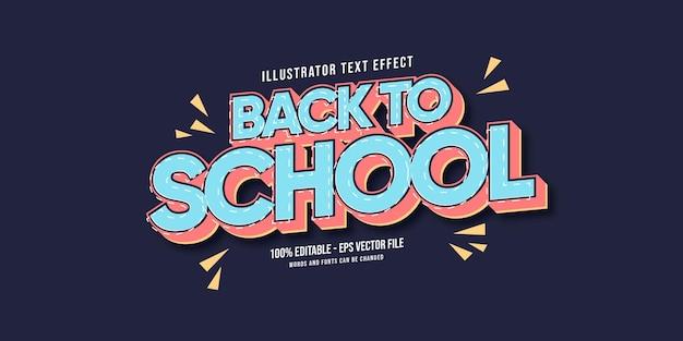Terug naar school van teksteffect
