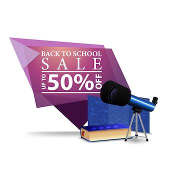 Terug naar school verkoop achtergrond
