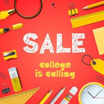 Terug naar school verkoop vector achtergrondafbeelding