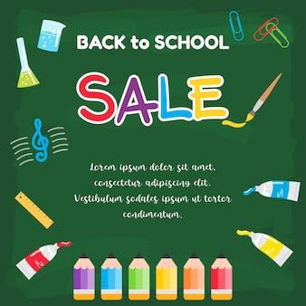 Terug naar school verkoopaffiche