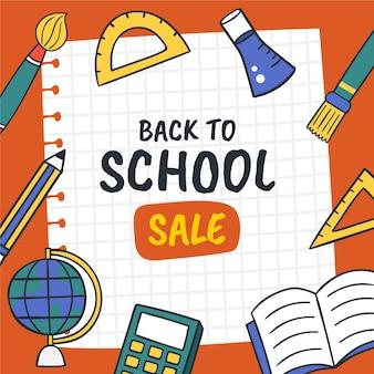 Terug naar school verkoopbanner