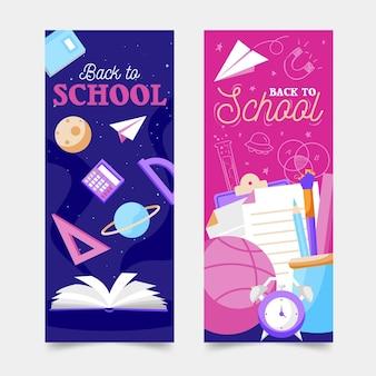 Terug naar school verticale banners