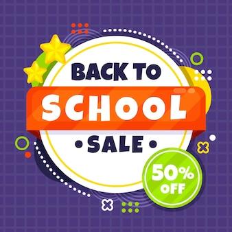 Terug naar school vierkante verkoopbanner