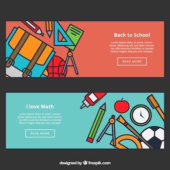 Terug naar school webbanners