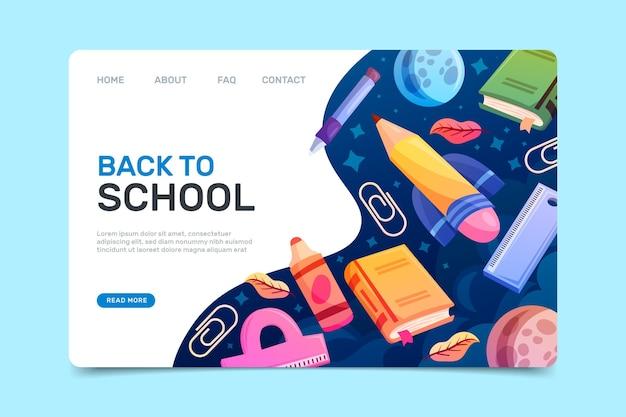 Terug naar school webpagina