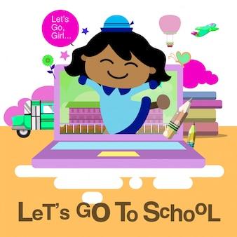 Terug naar school.