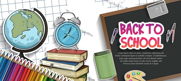 Terug naar schoolaccessoires
