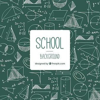 Terug naar schoolachtergrond met bord