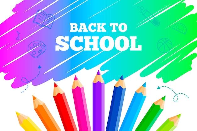Terug naar schoolbehang met potloden