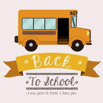 Terug naar schoolbus