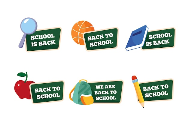 Terug naar schooletikettenpakket