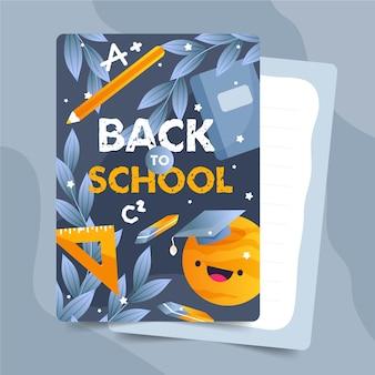 Terug naar schoolkaartsjabloonpakket