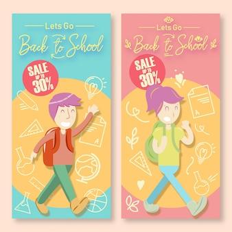 Terug naar schoolkorting posters potrait