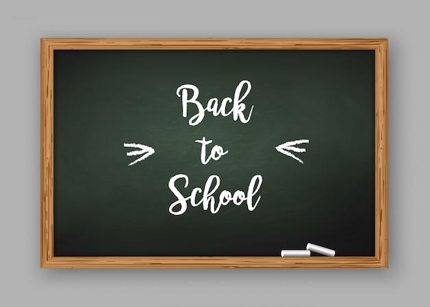 Terug naar schooltekst op schoolbord