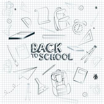 Terug naar vector de illustratie grafisch ontwerp van de leveringseigenschappen van de schoollevering