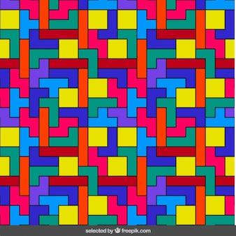 Tetris kleurrijke patroon