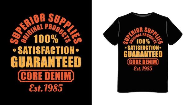 Tevredenheid gegarandeerd typografie t-shirt design