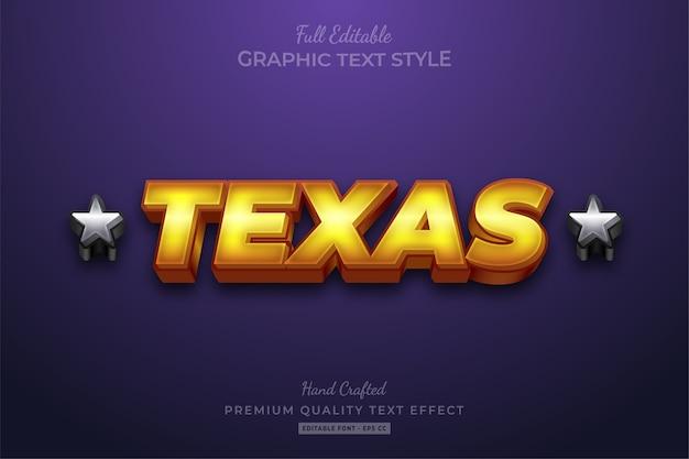 Texas goud zilver bewerkbare tekststijl effect premium