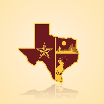 Texas kaart vectorillustratie