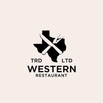 Texas restaurant longhorn logo pictogram ontwerp